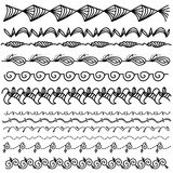 Black doodle trim collection Royalty Free Stock Photo