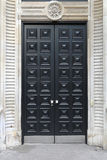 Black door Stock Photos