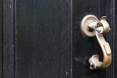 Black Door with Handle Stock Images