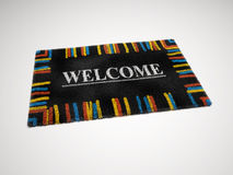 Black door mat Stock Photos