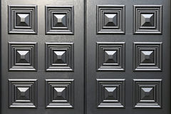 Black door panel Royalty Free Stock Image