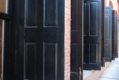 Black Doors Stock Images