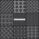 8 black dot patterns Stock Photos