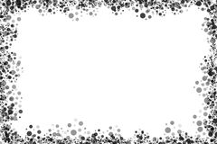 Black dots frame on white. A set of black dots forming a frame with white background Royalty Free Stock Photos