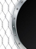 Black dots and metallic wire design Stock Images