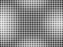 Black dots on white background Stock Photography