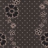 Black dotted lace Stock Photo