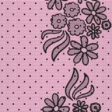 Black dotted lace Royalty Free Stock Images