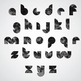 Black dotty graphic lower case letters, decorative font. Stock Image