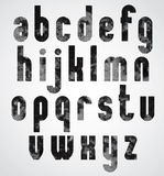 Black dotty graphic lower case letters. Stock Image