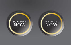 Black download buttons Royalty Free Stock Photos