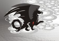 Black dragon with blood Stock Photos