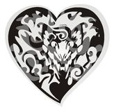 Black dragon heart Stock Photo