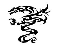 Black dragon illustration Royalty Free Stock Images
