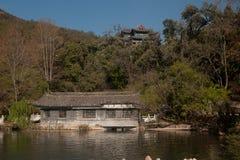 Black Dragon Pool in Lijiang,Yunnan in Southwestern of China. Royalty Free Stock Image