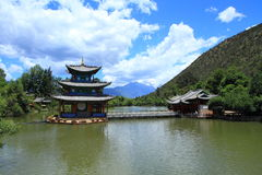 Black Dragon Pool Park-Lijiang old town scene Royalty Free Stock Images
