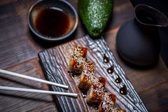 Black dragon roll Stock Photo