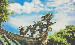 Black Dragon Roof Ornament Stock Photo