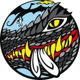 Black Dragon VS White Rabbit. Your time is gone, Rabbit! Welcome, Dragon stock illustration