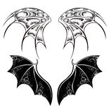 Black Dragon wings Stock Photo