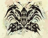 Black dragons butterfly Royalty Free Stock Photo