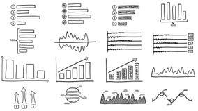 Black drawn infographics
