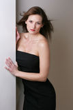 Black Dress. Woman in black dress stock photos