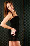 Black dress fashion Royalty Free Stock Photos