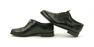 Black dress shoes Stock Photography