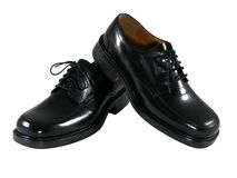 Black Dress Shoes Stock Images