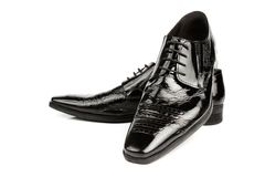 Black dress shoes Royalty Free Stock Image