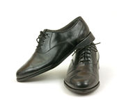 Black dress shoes for men Royalty Free Stock Photography