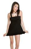 Black Dress Woman Stock Photos