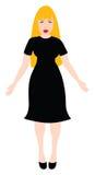 Black dress Women Royalty Free Stock Images