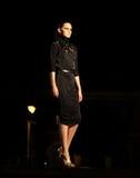 Black dressed fashion model Stock Image