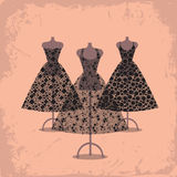 Black dresses Royalty Free Stock Image