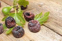 Black dried figs Stock Images
