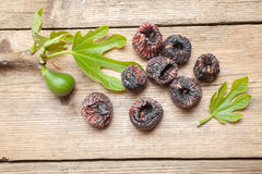 Black dried figs Royalty Free Stock Images
