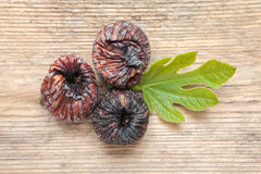 Black dried figs Royalty Free Stock Photos
