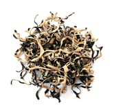Black dried  fungi Royalty Free Stock Photography