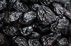 Black dried prune. Heap of black dried prune Royalty Free Stock Photo