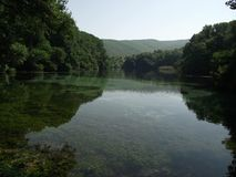 Black Drim river. Lake Ohrid , Macedonia Stock Image