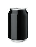 Black drink can Royalty Free Stock Photo
