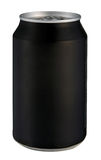 Black drink can isolated over white background Royalty Free Stock Photos