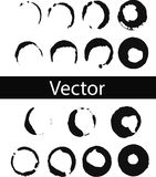 Vector set of coffee ring stains. Black drink stains illustration on Transparent Background Isolated. Splash and blots concept for royalty free illustration