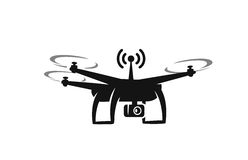 Black drone Icon Royalty Free Stock Images