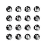 Black drop document icons Stock Image
