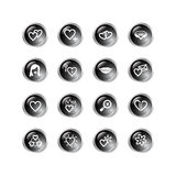 Black drop love icons Stock Photos