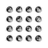 Black drop mobile phone icons Stock Photos