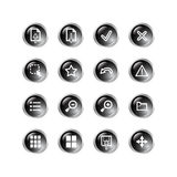Black drop viewer icons Royalty Free Stock Images